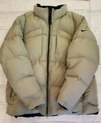 Rare Vintage 90s Nike Duck Down Puffer Jacket Mens Xxl Lt Green Taupe - Gray Tag