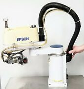 Seiko Epson Es451s Robot Manipulator Arm 4 Axis Not Tested See Video [b6fl]