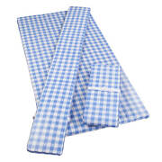 Deluxe Picnic Table Cover With Cushions 3-piece Set Cornflower Blue Ginghamandnbsp