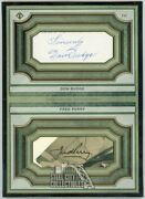 Don Budge Fred Perry 2020 Topps Transcendent Tennis Oversized Cut Signature