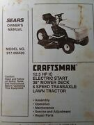Sears Craftsman Riding Lawn 12.5 Tractor And Mower Owner And Parts Manual 917.255520
