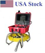 Sewer Drain Cleaner 7 Lcd 130ft Cable Self Level Camera 512hz Sonde Transmitter