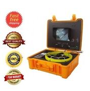 """Sewer Drain Pipe 10"""" Color Lcd Usb 1"""" Inspection Camera 130ft Cable 512hz Sonde"""