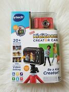 Vtech 80-531800 Kidizoom Creator Hd Cam With Built In Microphone Red New