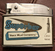 Vintage Flat Lighter Brown Oil Well Service - Aace Mud Co. - Liberal Kansas