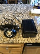 Antique Western Electric Bell Dial Desk Phone D1 Base 1930s With Ringer Box
