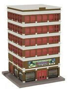 ✅mth Railking Down By The River 6 Story Lighted City Building Accessory 30-90270