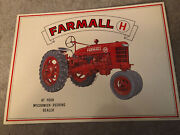 Farmall H Mccormick Deering Tractor Metal Large Sign 16 X 12 Excellent Condition