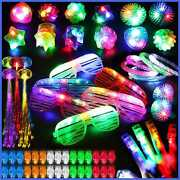 78pcs Led Light Up Toy Party Favors Glow In The Dark Supplies Bulk For Adult Kid
