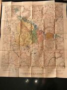 Antique 1927 Color Map Of 1918 St. Mihiel Operations American Army Wwi