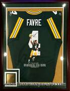 Brett Favre Green Bay Packers Hand Painted Autographed Jersey 1/1 Framed Ap