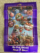 Vintage Original 1986 Madballs Monster Poster Those Characters From Cleveland