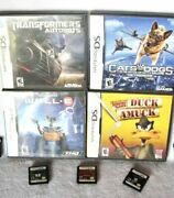 7 Pc Lot Nintendo Ds Games Wall E Cats And Dogs Transformers Avatar Looney Tunes +