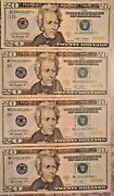 2009 And 2013 20 United States Federal Reserve Star Notes Lot Of Four Notes