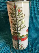 Pier 1christmas Morning Pupsstacking Mugs And Metal Holderchoose 1 Or All