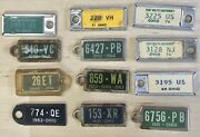 Lot Of 12 Disabled American Vets Miniature License Plate Key Tag Ohio 1944 1951