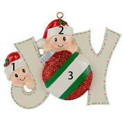 Joyful Family Of 2 3 4 5 6 7 Hand Painted Resin Personalized Christmas Ornaments