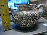 1890's Chinese Export Luen Wo Sterling Silver Tea Service Bowl Rare Antique