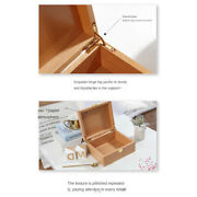 Natural Unfinished Wood Storage Box Pencil Case Organziers Jewelry Box Necklace