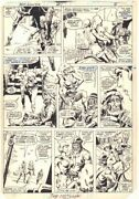 Red Sonja 1 P.6 - Red Sonja Action - 1983 Signed Art By Tony Dezuniga