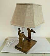 Rare Signed J. Clinton Shepherd Design1940and039s Cookbook Bookend Lamp Lund Art Co.