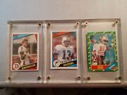 Rookie Card Lot Of Dan Marino John Elway And Jerry Rice Mint Cards
