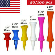 Plastic Step Down / Castle / Consistent Height Golf Tees Various Sizes 50/100pcs