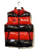Moncler X Palm Angels - Size 8 / Uk M - Black / Red Puffer Style Mint