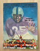 Vintage 1955 Nfl World Championship Program - Cleveland Browns @ La Rams