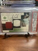 2003 Upper Deck Tiger Woods Golf Gear Patch Auto Gb-tw Psa 8/10 Tiger Red Patch