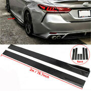 78.7and039and039 Gloss Black Side Skirt Rocker Panel For Toyota Corolla Camry 2001-2021 Us