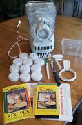 Popeil Automatic Pasta Maker 11 Assorted Dies Vhs Manual Measuring Cup Knife Set