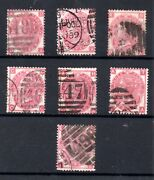 Gb Qv 1867 3d Rose Sg102/103 Plates 4 To 10 Collection Used Ws21681