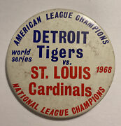 Vintage 1968 World Series Pin And Ribbons Detroit Tigers/st Louis Cardinals