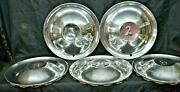 1951 1952 Desoto Firedome Deluxe Hubcaps Wheel Covers Set Of 5 Oem Conquistador