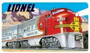 New Ande Rooney Embossed Tin Sign Lionel Sante Fe 14 X 8 Discontinued