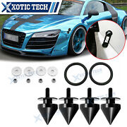 Black Spike Alloy Quick Release Bumper Fasteners Decor Kit For Audi A4 A5 A6 Tt