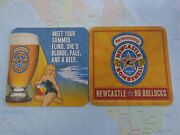 Beer Coaster Newcastle Bombshell Pale Blonde Ale No Bollocks England Babe