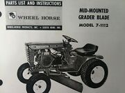 Wheel Horse Tractor 42 Push Plow And Center Grader Blade Owner And Parts 2 Manuals
