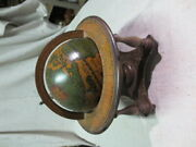 Vintage Wooden Old World Globe With Zodiac Astrology Signs - Made In Italy