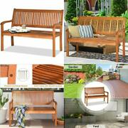 Wooden Garden Bench Two Person Home Indoor Outdoor Patio Seating Furniture 1 Pc