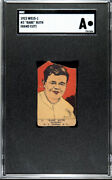 Babe Ruth 1923 W515-1 3 Babe Ruth Yankees Hof Investment Card🔥sgc Authentic