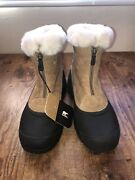 Sorel Snow Angel Front Zip Tan Thinsulate Winter Snow Boots Womens Size 8.5 Nwt