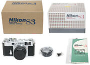 [open Box Unused] Nikon S3 Silver Year2000 Limited Edition From Japan 0304