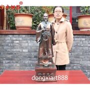 85 Cm China Pure Bronze Tradition Highly Skilled Doctor Medicine Bian Que Statue