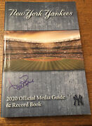2020 New York Yankees Official Media Guide And Record Book Signed By Aaron Boone