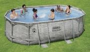 New Coleman Power Steel 16ft X 10ft X 48in Oval Pool Set With Filter Pumpladder