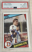 John Elway Signed 1984 Topps Rookie Card 63 Autographed🔥psa/dna 6 Ex-mt Auto 9