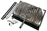 Stainless Gas Tank For 1970 Chevelle No Vents - 2 Line Sending Unit And Straps