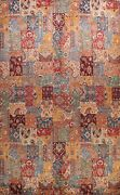 Vegetable Dye Patchwork Oriental Hand-knotted Large Area Rug Transitional 10x13